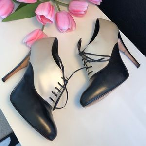 Bebe Mary Janes Black and white size 8
